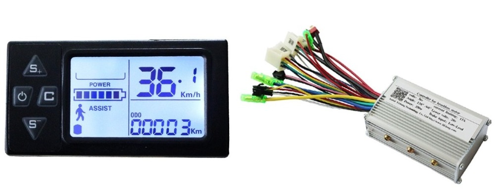 Free Shipping 250W 24V DC brushless motor control panel Liquid crystal display LCD controller E-bike electric bicycle speed fast shipping 1000w 60v dc 24 mofset brushless motor controller e bike electric bicycle speed control