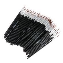 10 шт. тонкая ручная роспись тонкая ручка с крючками для рисования художественная Ручка Кисть для рисования нейлоновая кисть для рисования акриловые инструменты аксессуары