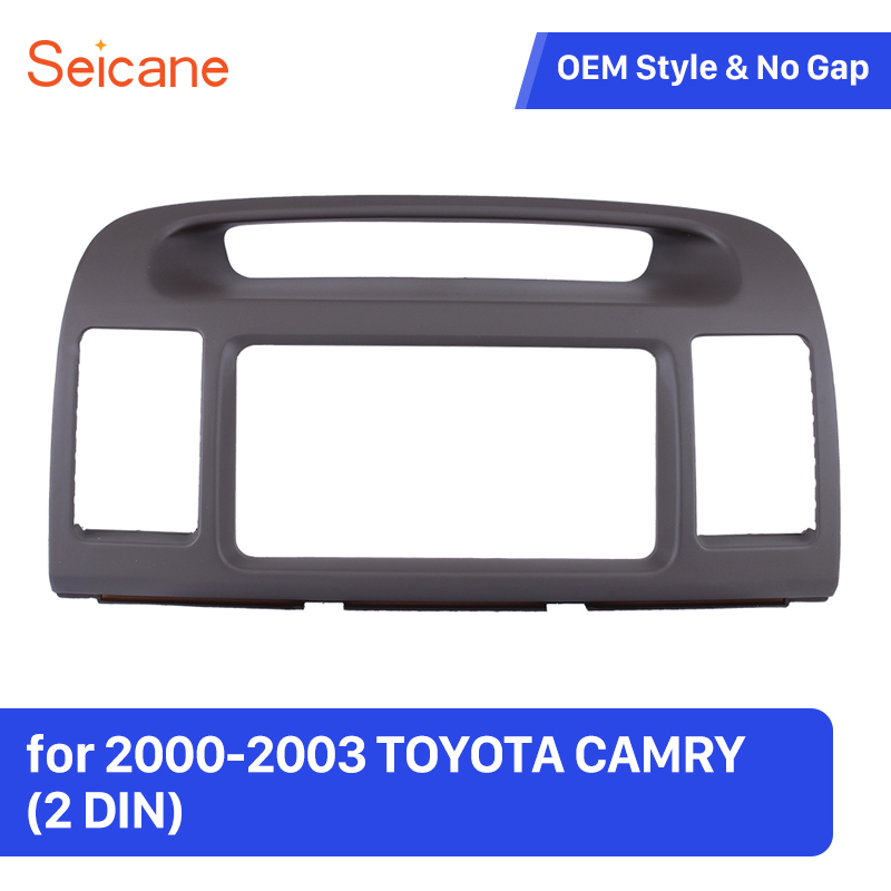 Seicane Double Din Car Radio Panel Plate Kit for 2000-2003 TOYOTA CAMRY DVD Player Frame in Dash Trim Kit seicane exquisite 202 102 double din car radio fascia for 2009 2013 toyota avensis dvd frame in dash mount kit trim bezel