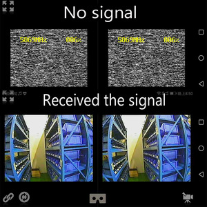 Image 3 - 5.8G UVC Receiver + 25mW/100mW 5.8G 48CH VTX 600TVL FPV Camera Transmitter Video Downlink OTG VR Smartphone for FPV Racing Drone