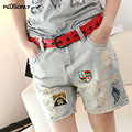 Ripped Denim Shorts Women 2017 New Casual Hole Female Summer Shorts JRSJ24