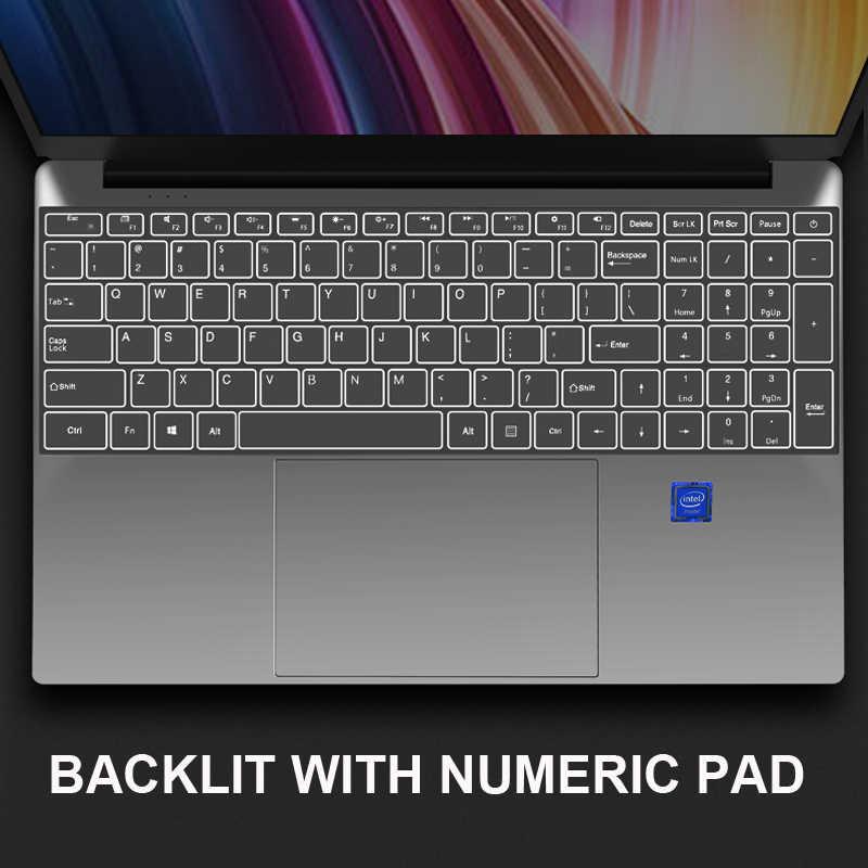 15.6 inch intel Core i3 Chơi Game Máy Tính Xách Tay Với 8G RAM 64/128/256/512G/ 1 tb SSD Máy Tính Xách Tay Máy Tính Máy Tính Xách Tay Ultrabook Backlit IPS WIN10