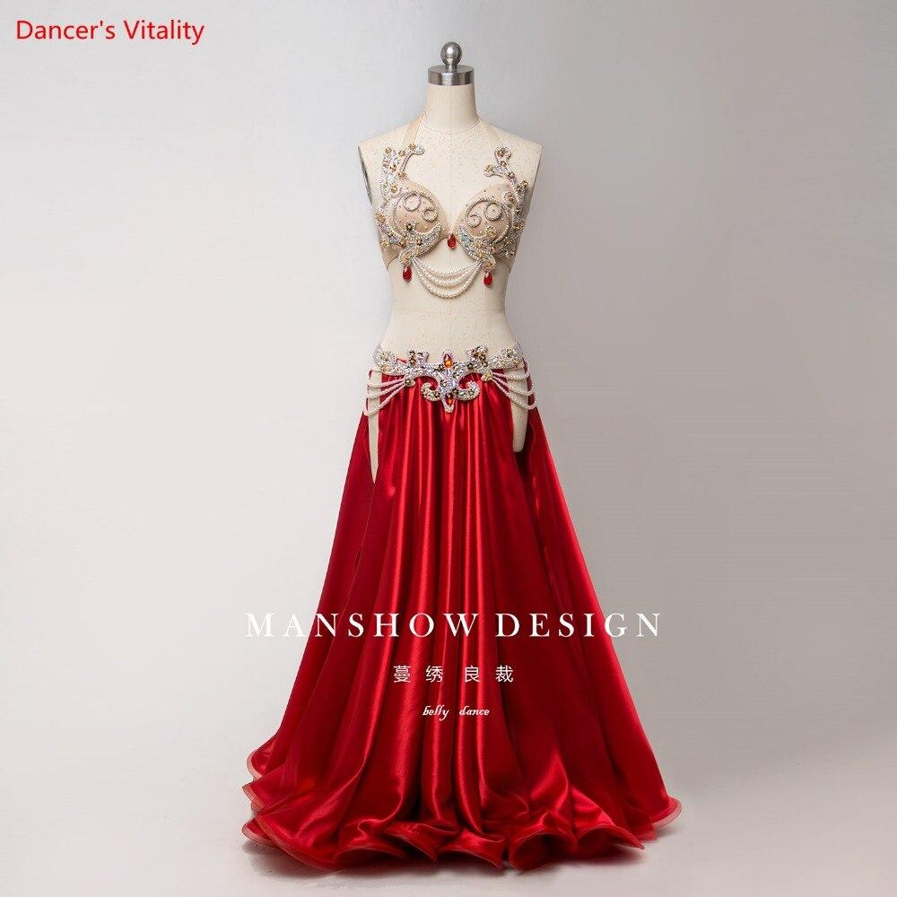 新セクシーな高級女性ベリーダンススーツオリエンタルスーツショーステージベリーダンスの摩耗スカートカスタマイズベリーダンス   -