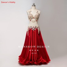 New Sexy Luxury Women Bellydance Suit Oriental Suit Show Stage Belly Dance Wear Skirt Customized Free