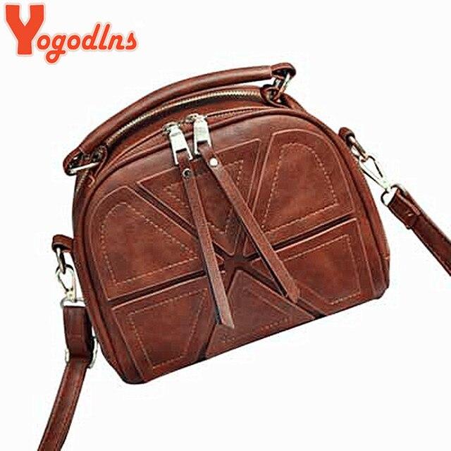 Yogodlns brand women crossbody bags for women shoulder messenger bags crocodile pattern artificial leather handbag with tassel