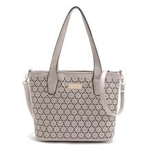 Bolso de las mujeres de la pu bolso de cuero de moda ahueca hacia fuera los Bolsos del mensajero bolsos de Las Mujeres famosas marcas bolso de compras crossbody tote