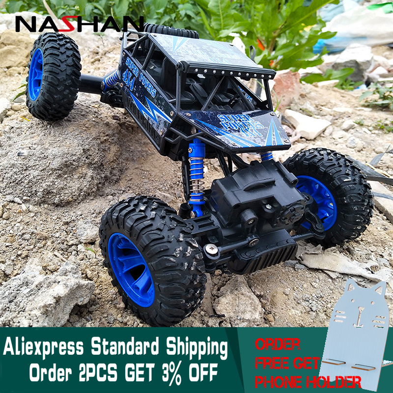 RC Car 4WD 2.4GHz 1:18 Climbing Remote Control Car 4x4 Double Motors Bigfoot Car Off-Road Vehicle Toy Model For Boys Kids Gift building rc car off road vehicle building toy bricks technic remote control toys for boys model car kids fun toy gift children