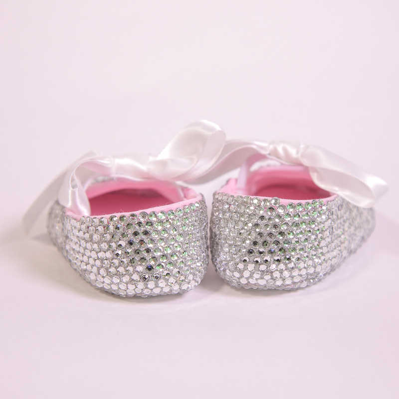 ... All Covered Clear Sparkle Bling out White Ribbon Bow Custom Handmade  Christening 0-1 Princess ... 876bb34fb902