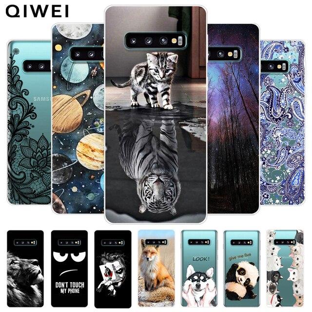 For Samsung Galaxy S10 Plus Case s 10 Lite S10E E Soft TPU Back Cover For Galaxy S10 S10Plus Silicone Phone Cases Coque S10Lite
