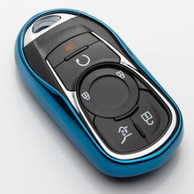 Soft TPU Car Key Case Cover Shell Protector For Buick ENCORE ENVISION NEW LACROSSE Keyring Styling Accessories