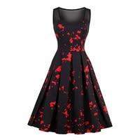Sisjuly Women S Vintage Dress 2017 Summer Black Sleeveless O Neck 50s 60s Patchwork A Line