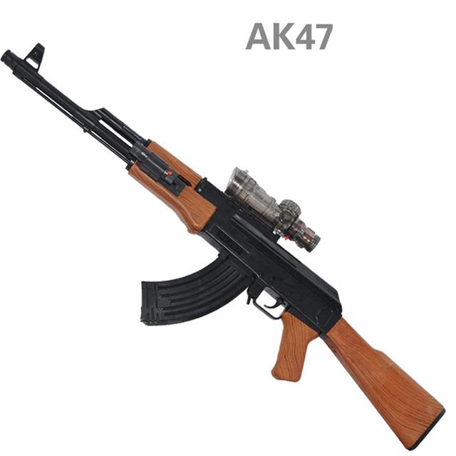 AK47 Pistola De Juguete De Plástico Pistola de Agua de Juguete Pistola Rifle de Francotirador infrarrojo Suave Balas Balas de Arma de Agua Arme Orbeez Cumpleaños de Los Niños regalos