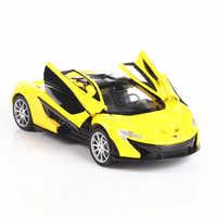 1:32 McLaren P1 Suono e la luce cintura pull-back del veicolo in lega di simulazione modello di auto artigianato decorazione collezione di strumenti giocattolo