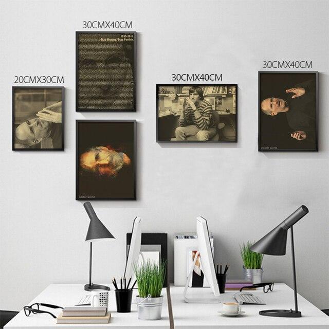 Steve Paul Jobs altes foto vintage poster Kunst Wohnkultur cafe bar ...