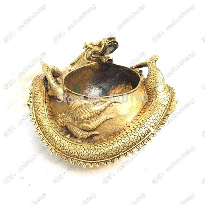 Bobine de cuivre de cuivre dragon dragon stylo cuve de lavage de cuivre bobine encens dragon artisanat ornements accessoires pour la maison