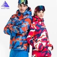 VECTOR Brand Skiing Jackets Waterproof Warm Winter Women Men Snowboarding Ski Jacket Professional Outdoor Snow Sportwear