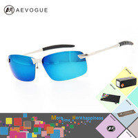AEVOGUE With Original Case Brand Sport Cycling Polarized Sunglasses Men Color Reflective Polaroid Lens Eyewear Glasses