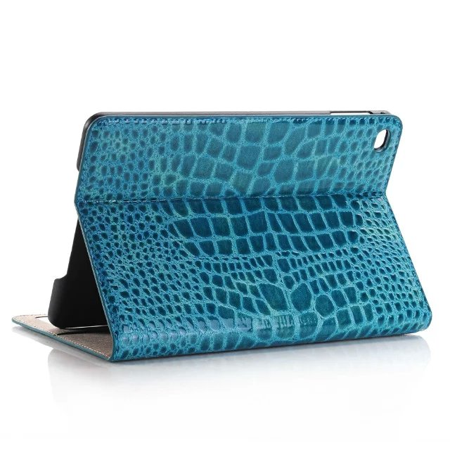 все цены на  Luxury Crocodile Grain Card Holder Folio Stand PU Leather Cover Magnetic Smart Sleep Case For Apple Ipad Pro 12.9 inch Tablet  онлайн
