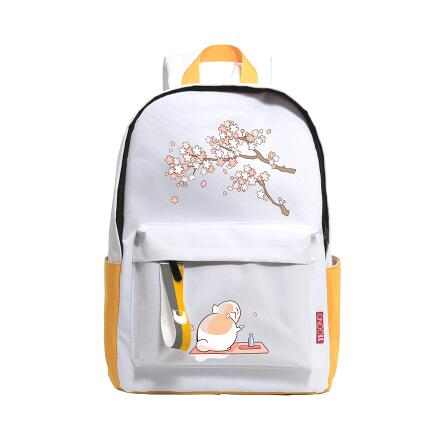 цена Natsume Cat Anime Backpacks for Women Japanese Cartoon Printing Canvas Backpack for Teenage Girls Boys School Backpack Mochila