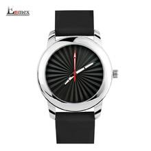 2017 Enmex estilo creativo hombres reloj Estéreo solar patrón de diseño creativo de silicona banda reloj de cuarzo Luminoso