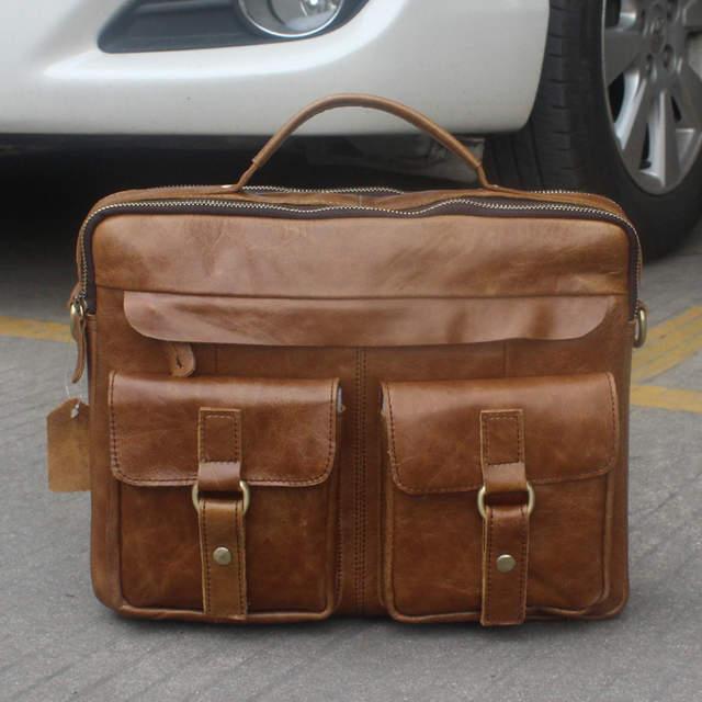 41deb49b4d92 YU Genuine Leather Bag Men Messenger Bags Handbag Briescase Business Men  Shoulder Bag High