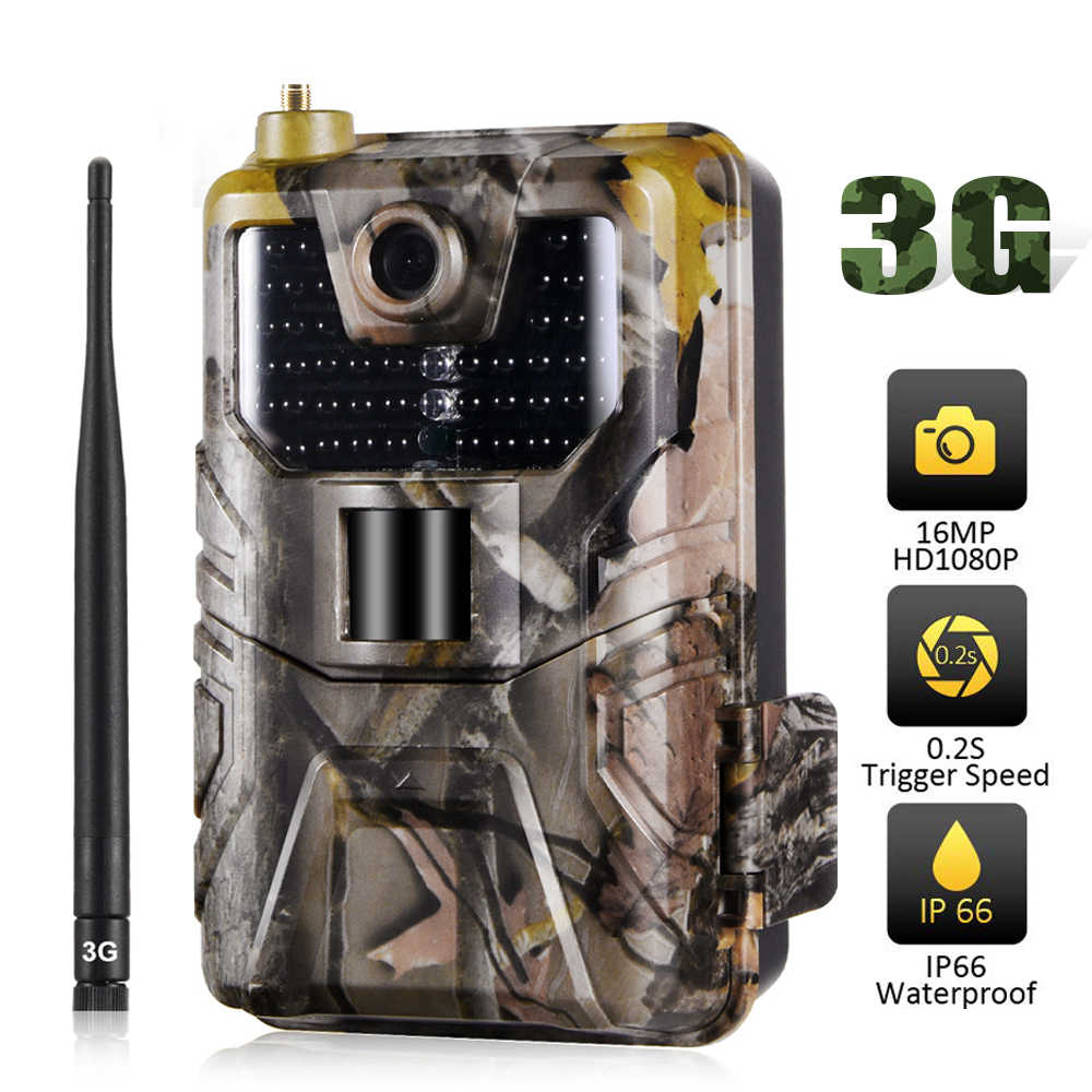 3G MMS SMTP SMS Trail Camera 20MP 1080P Hunting Email Infrared Wireless Mobile Cameras HC900G Cellular Waterproof Wildlife Cams