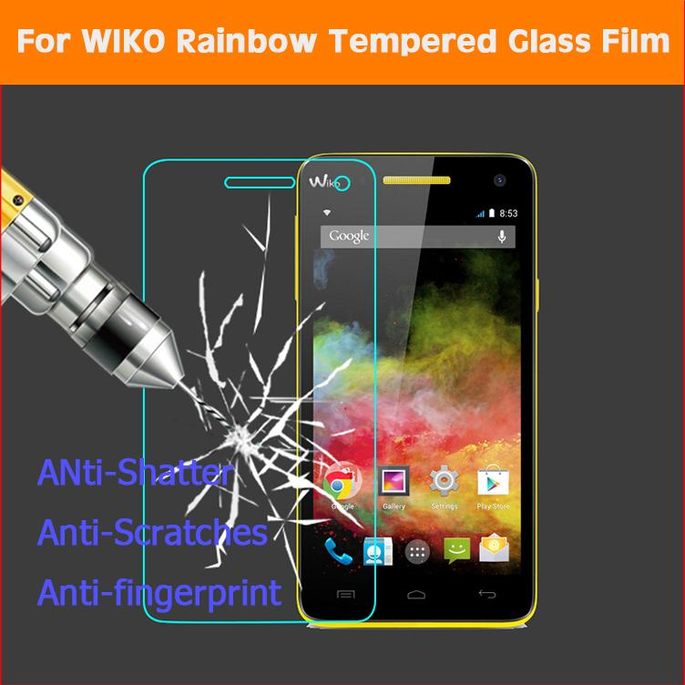 GzPuluz Glass Protector Film 50 PCS for Wiko Rainbow UP 0.26mm 9H Surface Hardness 2.5D Explosion-Proof Tempered Glass Film No Retail Package