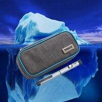 Portatile Insulina glaciale custodia freddo box refrigerato frigorifero portatile pacchi di calore droga freezer pack con 2 pastiglie di ghiaccio