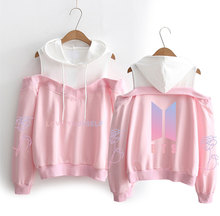 BTS Love Yourself Off-Shoulder Hoodies (6 Colors)