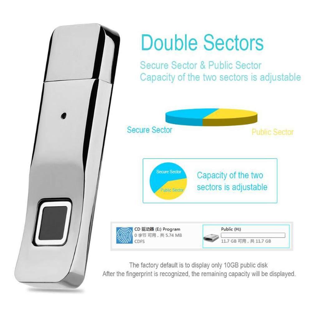 Image 2 - Fingerprint Usb Flash Drive 3.0 pendrive disk stick 32gb metal biometric fingerprint usb reader memory pc Encryption-in USB Flash Drives from Computer & Office