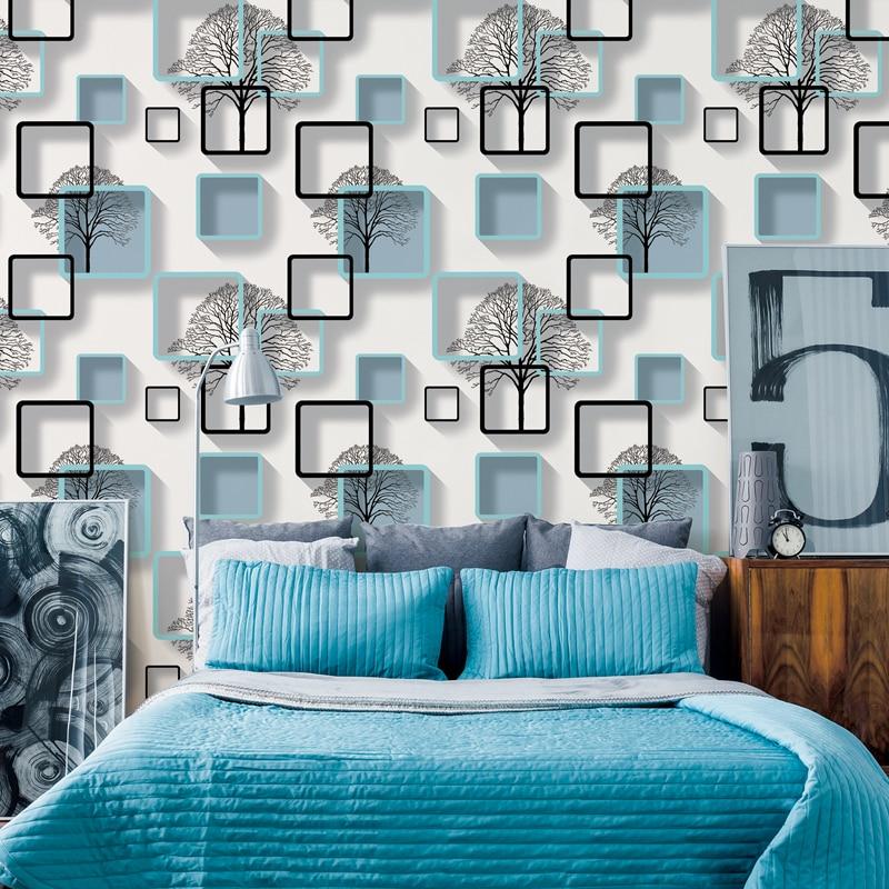 living 3d modern pattern squares bedroom background purple