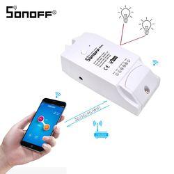 Интеллектуальный выключатель света SONOFF Dual 2ch Wifi умный беспроводной переключатель 15A 2500w/2 Gang 10A 2200w/1 банды выключатель света SONOFF IP66 Водонепрон...