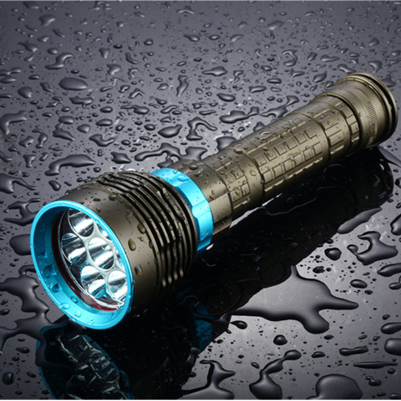 SOLLED 18000LM T6/15000LM T6 LED Dive Torch 200M Underwater Waterproof Tactical Led Flashlights Lantern Lamp