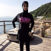 Stampa Modesto Costumi Da Bagno Più Il Formato Vestito di Nuoto Musulmano  Copertura Completa Hajib Musulmano 2101433bd763