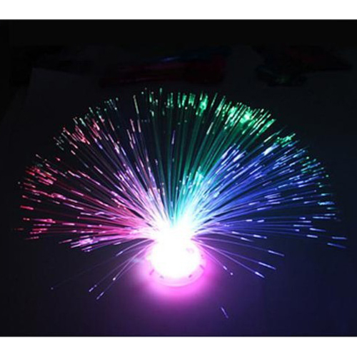 Color Changing LED Fiber Optic Night Light Lamp Colorful Stand Home Decor