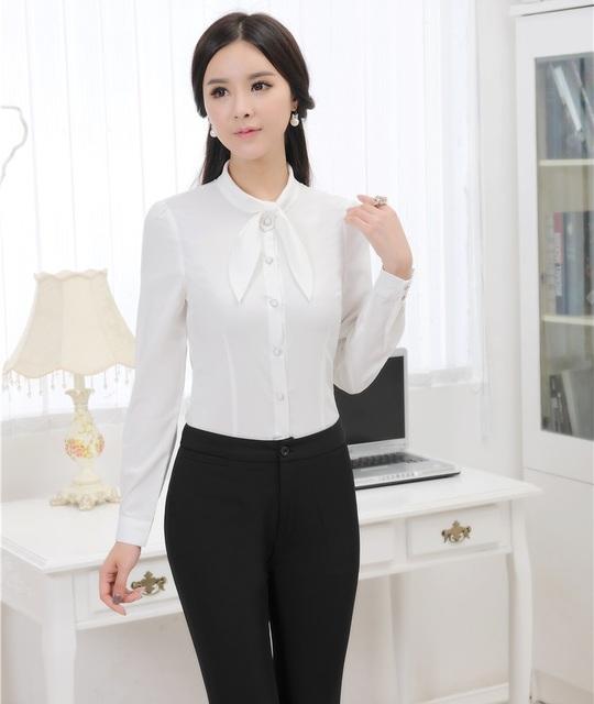 Plus Size 3XL uniforme estilo elegante mulheres terninhos 2015 primavera outono Professional blusa e calças escritório Ladies calças Set