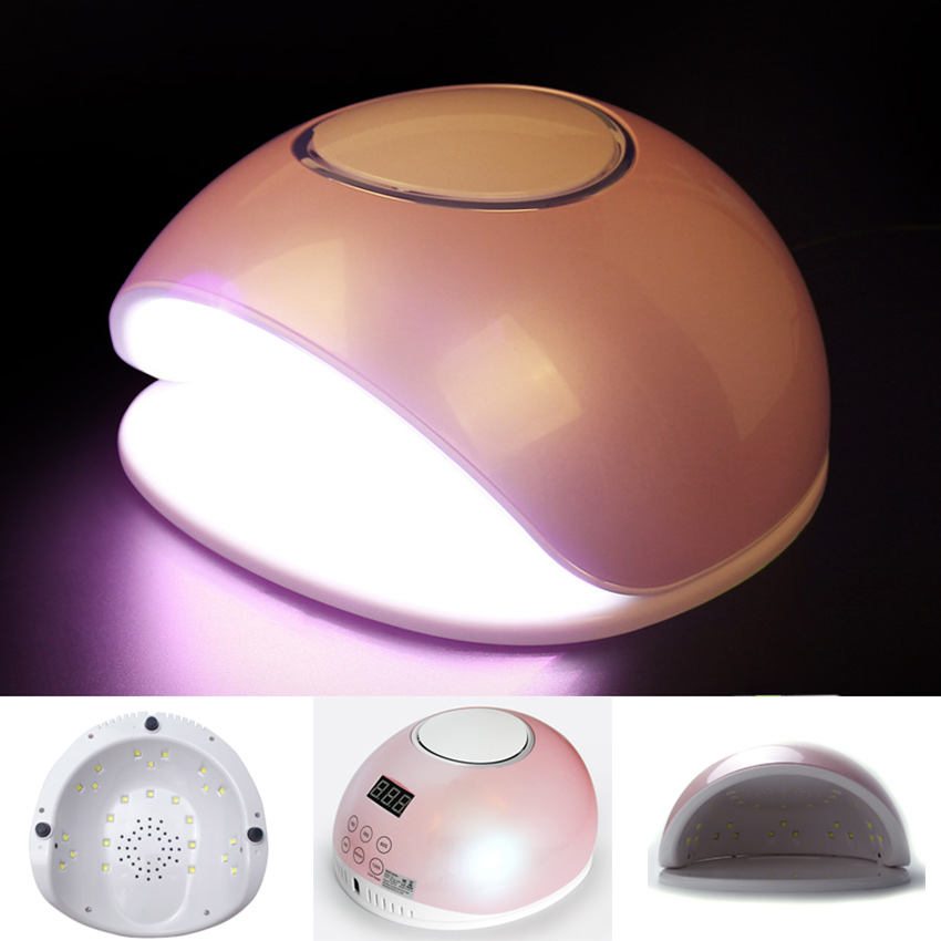 Professional 48W Led UV Nail Art Dryer Lamp with Cooling Fan 24 Leds Goddess Pink 5