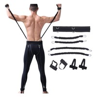 200lbs Fitness Resistance Bands Set for Arms Legs Strength and Agility Workout Equipment Boxing Basketball Jump Force Training