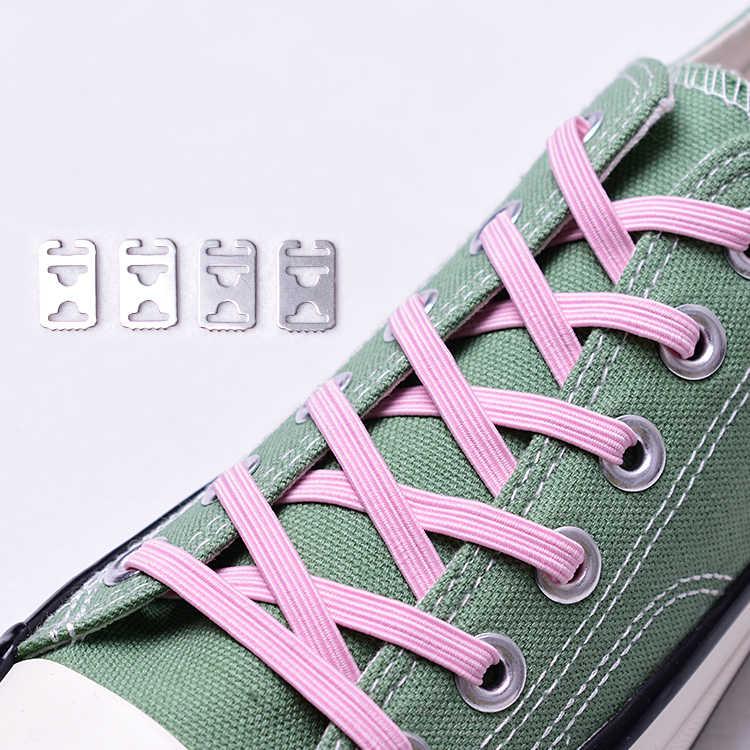 1 par de cordones elásticos de goma para zapatos, cordones para zapatos sin cordones, cordones para zapatos Unisex para niños, cordones seguros de 24 colores