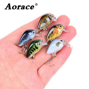 5PCS 3cm 2g Swim Fish Fishing Lure Artificial Hard Crank Bait topwater Wobbler Japan Mini Fishing Crankbait lure