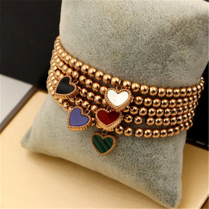 Double Side Color Heart Charm