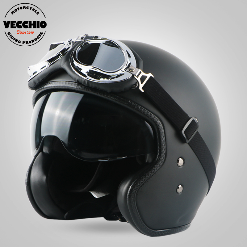 VECCHIO motorcycle helmet fiberglass vintage motorbike motorcross 3/4 open FACE Retro Jet helmet Scooter protective gear ECE free shipping glass door lock security lock house ornamentation door hardware lock stainless steel lock