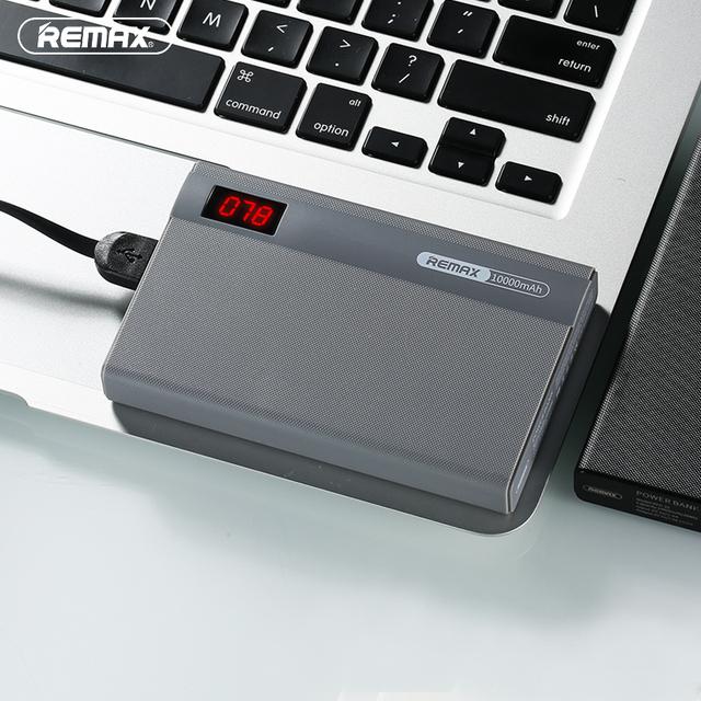 Remax linon pro banco do poder 10000 mah dual usb portátil móvel banco do poder de bateria externa de carregamento para iphone 6 plus para xiaomi