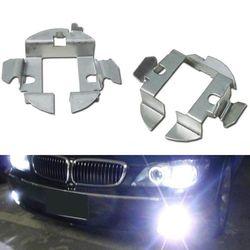 1 sztuka Auto pokrowiec na samochód H7 żarówki ksenonowe HID podstawy posiadacze adaptery klipy ustalające zestaw do BMW VW Bora H7 ledowa żarówka do reflektorów Adapter