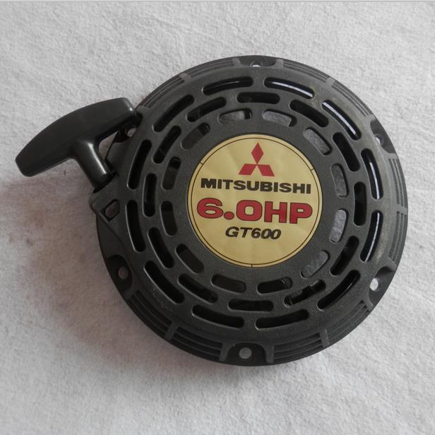 RECOIL STARTER ASSY FITS  MITSUBISHI 6HP GT600 GM182 MBP30 WATER PUMP FREE SHIPPING   PULL START  PULLY REWIND GENERATOR PARTS recoil starter assembly for korea rcmk zenoah chungyang f 273 26cc rc marine power racing boat 27cc r c pull start assy