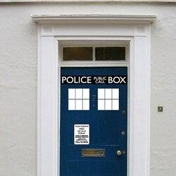 Модные Полиция Box двери Наклейка Виниловая наклейка, Dr. Кто Доктор Стиль для двери и холодильник украшения