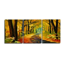 Laeacco 3 Panel Watercolor Forest Posters and Prints Graffiti Wall Artwork Canvas Paintings Calligraphy Home Living Room Decor