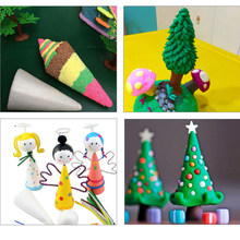 5pcs 7/10cm Cone Shaped Styrofoam Foam Ornaments for Christmas Tree Decor Handmade DIY Wedding Modelling Crafts Gift Supplies(China)