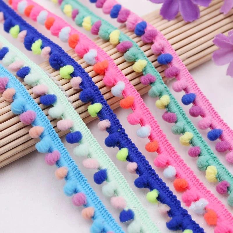 5Yards 20mm Pom Pom Trim Ball Fringe Ribbon Sewing Accessory Lace TK
