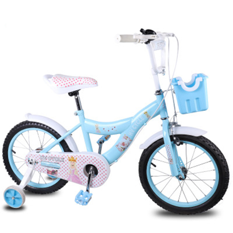 New 5-8 Year Old Boys And Girls Cycling 16-Inch Light Blue Outdoor Sports Children Pedaling Bicycle